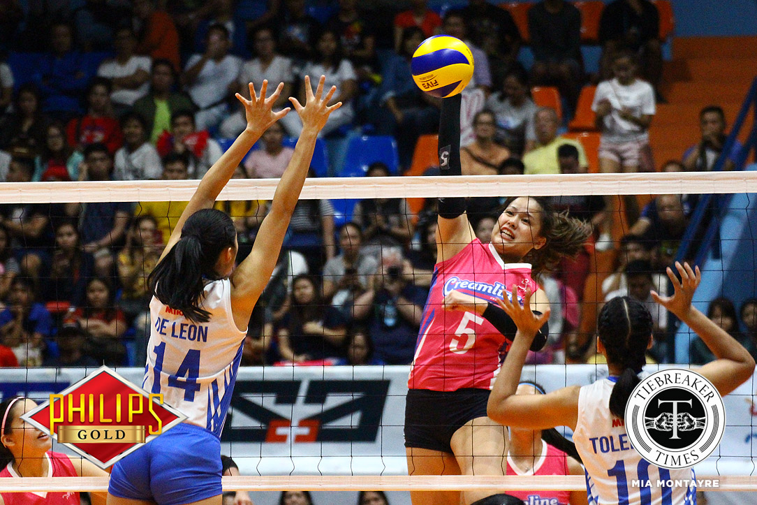 Tiebreaker Times Creamline imposes brilliance on Ateneo-Motolite, claims Game One ADMU News PVL Volleyball  Creamline Cool Smashers Ateneo-Motolite Lady Eagles 2018 PVL Season 2018 PVL Open Conference