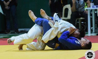 Tiebreaker Times George Kim takes -100kg gold as UST picks up early lead in UAAP Judo ADMU DLSU Judo News UAAP UE UP UST  UST Men's Judo UP Men's Judo UE Men's Judo UAAP Season 81 Men's Judo UAAP Season 81 Mitchell Salcedo Henry Margulies George Kim DLSU Men's Judo Dither Tablan Ateneo Men's Judo