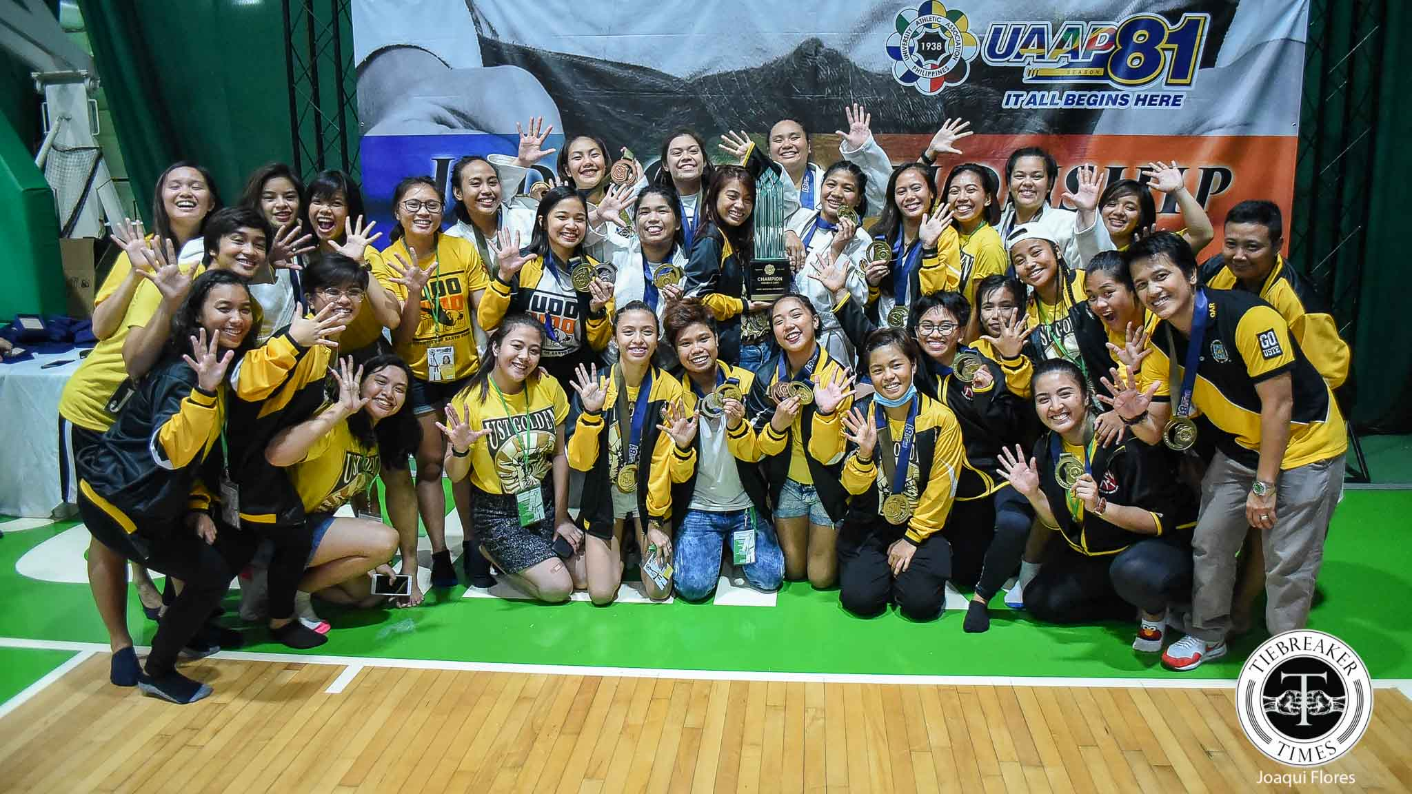 Tiebreaker Times Strength in Numbers: UST Lady Judokas secure historic 5th straight crown ADMU DLSU Judo News UAAP UE UP UST  UST Women's Judo UP Women's Judo UE Women's Judo Sharlene Guyo Justine Main Gege Arce DLSU Women's Judo Charisse Aseneta Ateneo Women's Judo Arshea Gimena
