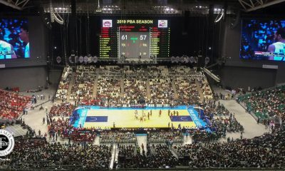 Tiebreaker Times 23,711 fans troop to Philippine Arena for PBA opener Basketball News PBA  Willie Marcial TNT Katropa PBA Season 44 Barangay Ginebra San Miguel 2019 PBA Philippine Cup 2018 PBA Leo Awards