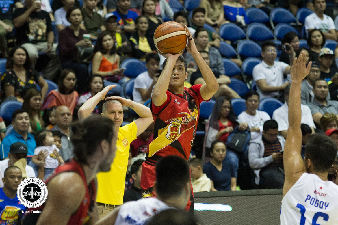 Tiebreaker Times Von Pessumal rues wasted career-high: 'I'd rather have zero and get the win' Basketball News PBA  Von Pessumal San Miguel Beermen PBA Season 44 2019 PBA Philippine Cup