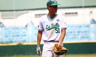Tiebreaker Times DLSU Green Batters cool down, still hold off NU for early lead Baseball DLSU News NU UAAP  UAAP SEASON 81 Baseball UAAP Season 81 Kiko Gesmundo Joseph Orillana Joseph Carolino Iggy Escano Egay delos Reyes DLSU Baseball Diego Lozano Boo Barandiaran Arvin Herrera