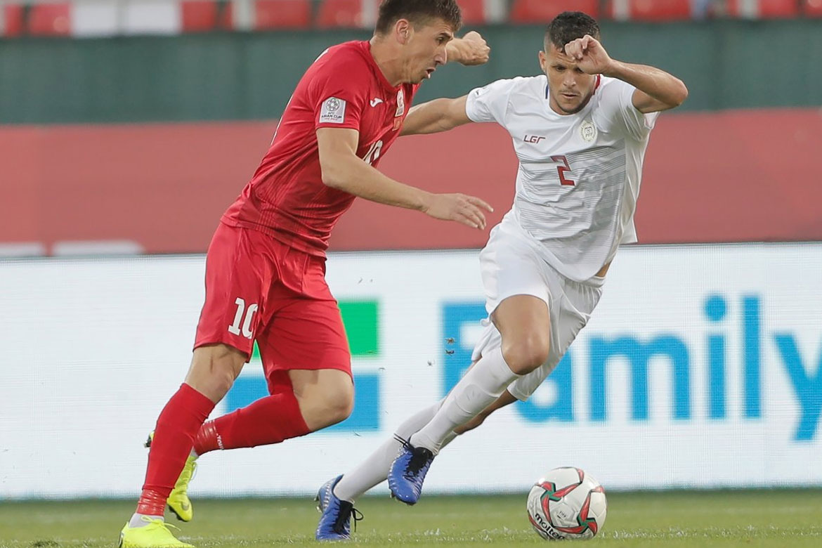 Tiebreaker Times Philippine Azkals bow out of Asian Cup to Vitalij-powered Kyrgyzstan Football News Philippine Azkals  Sven-Goran Eriksson Stephan Schrock Michael Falkesgaard Lux Vitalij Kyrgyzstan (Football) Kadyrbekov Kutman Alexander Krestinin 2019 AFC Asian Cup