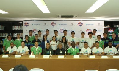 Tiebreaker Times Enderun joins forces with FamilyMart in first D-League foray Basketball News PBA D-League  Pipo Noundou Paolo Bugia FamilyMart Enderun Enderun Colleges Titans