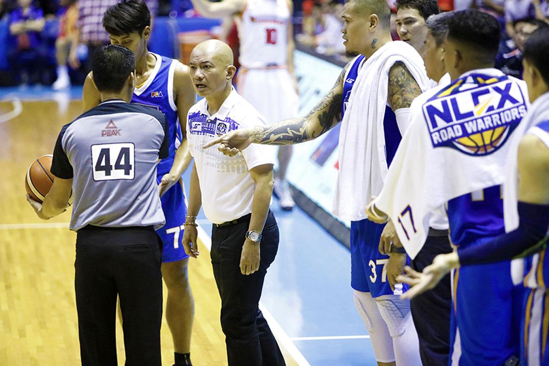 Tiebreaker Times Yeng Guiao on lambasting ref: 'They don't feel what we feel' Basketball News PBA  Yeng Guiao PBA Season 44 NLEX Road Warriors 2019 PBA Commissioners Cup