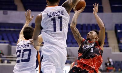 Tiebreaker Times Cold-shooting Calvin Abueva sinks game-winner as Phoenix outlasts Meralco in OT Basketball News PBA  Phoenix FUel Master PBA Season 44 Norman Black Nico Salva Meralco Bolts Matthew Wright Louie Alas Justin Chua Jason Perkins Chris Newsome Baser Amer 2019 PBA Philippine Cup