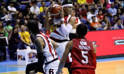 Tiebreaker Times From being offensive catalyst, Arwind Santos leads way on defense this time Basketball News PBA  San Miguel Beermen PBA Season 44 Leo Austria Arwind Santos 2019 PBA Philippine Cup