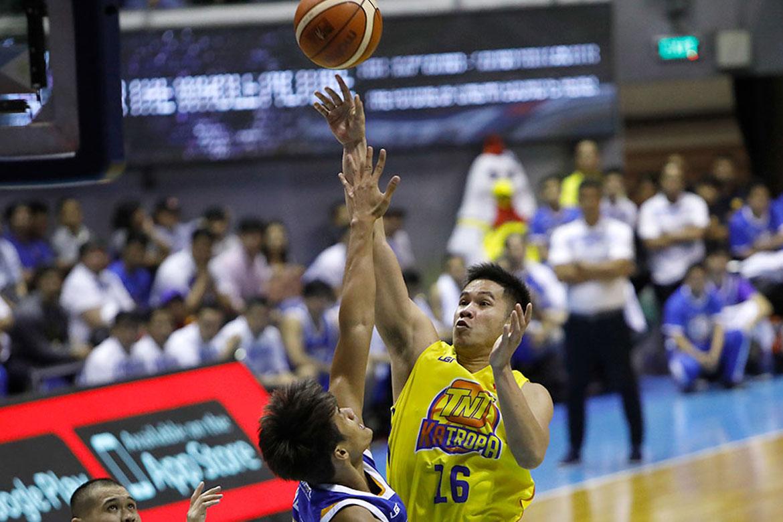 Tiebreaker Times Roger Pogoy now embracing role as one of TNT's main gunners Basketball News PBA  TNT Katropa Roger Pogoy PBA Season 44 2019 PBA Philippine Cup