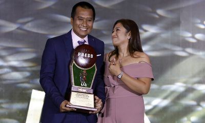 Tiebreaker Times Coach of the Year Chito Victolero vows this is just the beginning Basketball News PBA  PBA Season 43 Chito Victolero 25th PBA Press Corps Awards Night