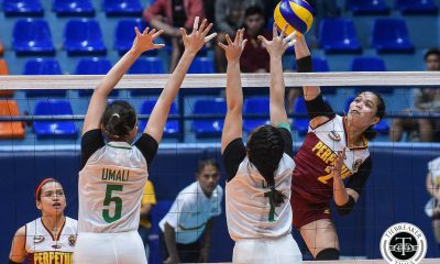 Tiebreaker Times Perpetual guts out tight finish against top seed Benilde, forces rubber match CSB NCAA News UPHSD Volleyball  Saint Benilde Women's Volleyball Rachel Austero Perpetual Women's Volleyball Necelle Gual NCAA Season 94 Women's Volleyball NCAA Season 94 Michael Carino Klarisa Abriam Jerry Yee Jenny Gaviola Cindy Imbo Allyssa Sangalang