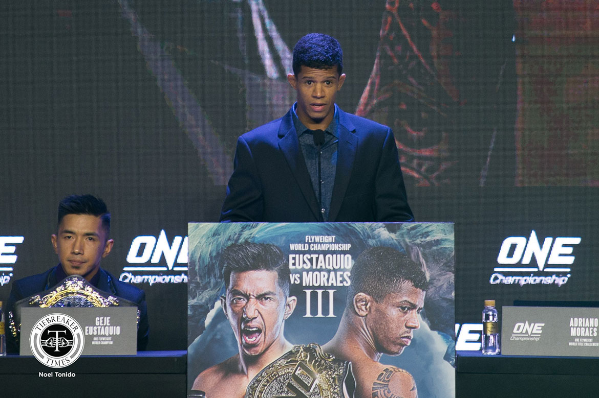 Tiebreaker Times Adriano Moraes out to prove that he won second bout against Geje Eustaquio Mixed Martial Arts News ONE Championship  ONE: Hero's Ascent Adriano Moraes