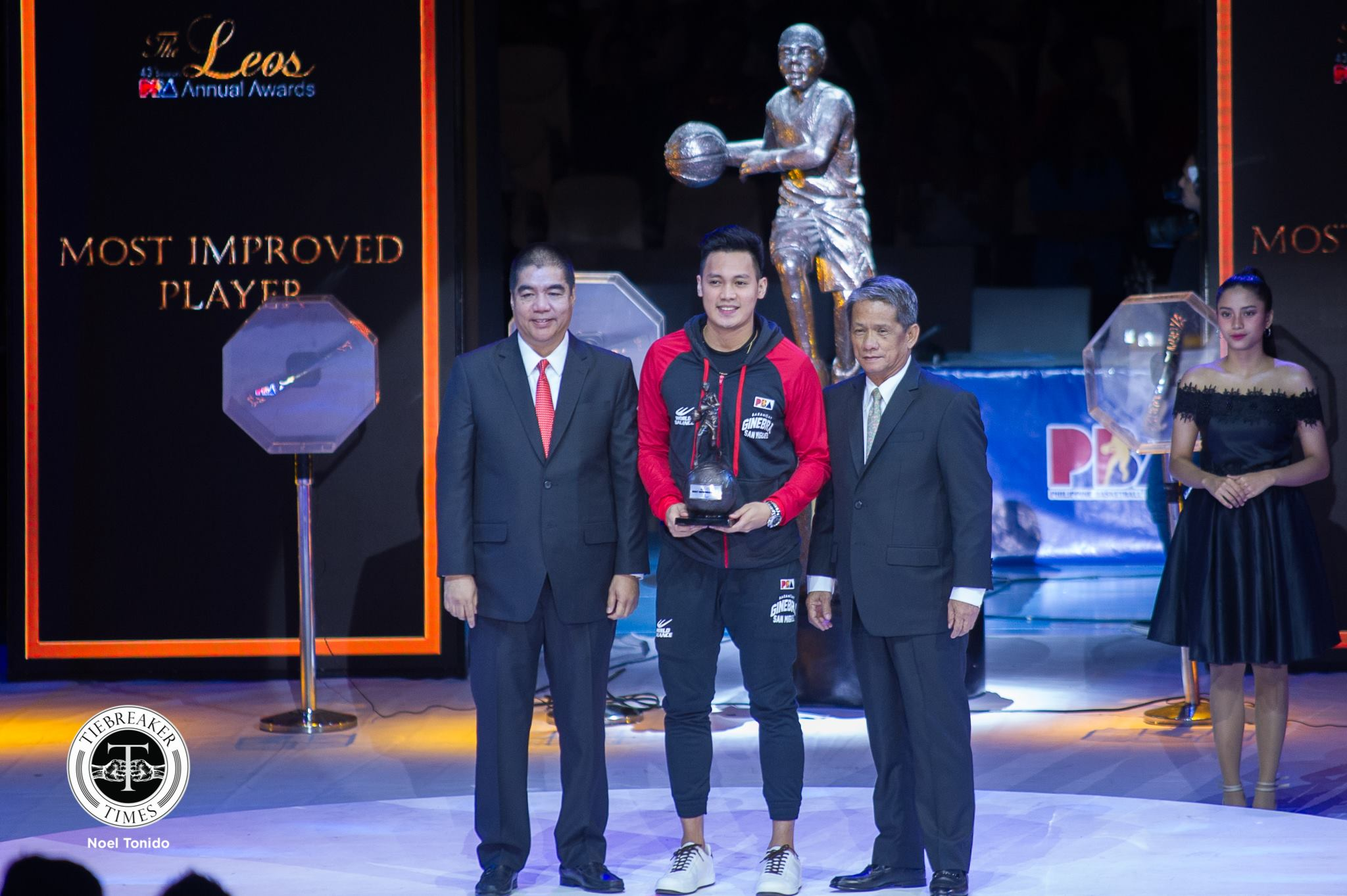 Tiebreaker Times Scottie Thompson wins another MIP award Basketball News PBA  Scottie Thompson PBA Season 44 Barangay Ginebra San Miguel 2018 PBA Leo Awards