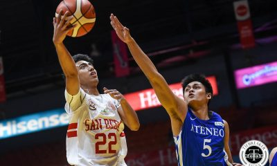 Tiebreaker Times In first post-Bolick, Mocon game, Evan Nelle proves he can lead San Beda Basketball News SBC  San Beda Seniors Basketball Evan Nelle Boyet Fernandez 2019 PCCL National Championship