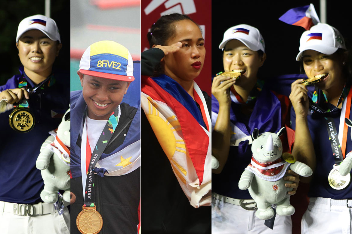 Tiebreaker Times Asian Games gold medalists take centerstage in PSA Awards Golf News Skateboarding Weightlifting  Yuka Saso Margielyn Didal LK Go Hidilyn Diaz Bianca Pagdanganan 2019 PSA Awards