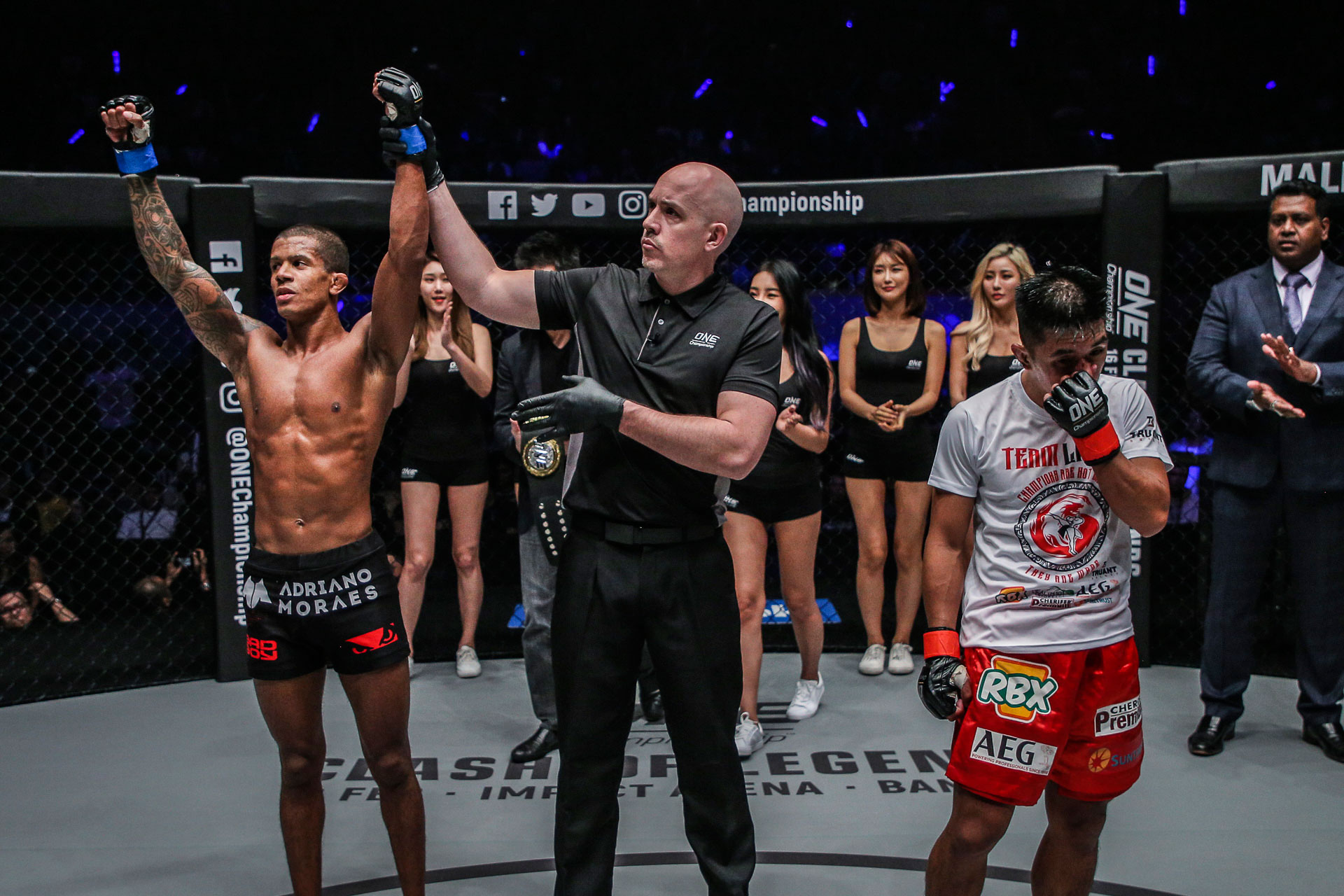 Tiebreaker Times Geje Eustaquio, Adriano Moraes honored to have made history together Mixed Martial Arts News ONE Championship  ONE: Hero's Ascent Geje Eustaquio Adriano Moraes