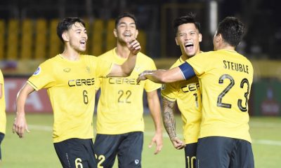 Tiebreaker Times OJ Porteria scores brace as Ceres survives Shan United in Bacolod thriller AFC Cup Football News  Zin Min Tun Shan United Roland Muller Phone Thitsar Min OJ Porteria Min Thu Ko Ko Chit Ceres-Negros FC Bienvenido Marañon 2019 AFC Cup