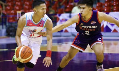 Tiebreaker Times Jeff Viernes takes over in 4th as Che'Lu escapes Petron-Letran Basketball CSJL News PBA D-League  Stevenson Tiu Sean Manganti Rey Suerte Petron-Letran Knights Larry Muyang Jeff Viernes Che'Lu Revellers Bonnie Tan Alvin Pasaol 2019 PBA D-League Season