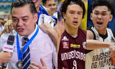 Tiebreaker Times Rensy Bajar makes sure to draft Manzo, Webb to Diliman Basketball News PBA D-League  Rensy Bajar Noah Webb Jun Manzo Diliman College Blue Drgons 2019 PBA D-League Season