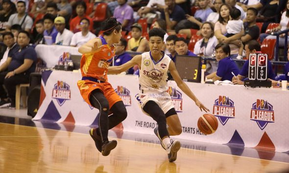 Tiebreaker Times Joshua Fontanilla introduces self as St. Clare-VR torches Go for Gold-CSB Basketball CSB News PBA D-League  Yankie Haruna St. Clare-Virtual Reality Saints Ray Rubio Kendrix Belgica Justin Gutang Junjie Hallare Joshua Fontanilla Go for Gold-CSB Charles Tiu 2019 PBA D-League Season