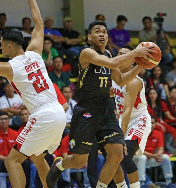 Tiebreaker Times Mark Nonoy shows he can keep up with big boys as UST routs Batangas-EAC Basketball EAC News PBA D-League UST  UST Men's Basketball Soulemane Chabi Yo Rhanz Abando Oliver Bunyi Mark Nonoy Earvin Mendoza Brent Paraiso Batangas-EAC Generals 2019 PBA D-League Season