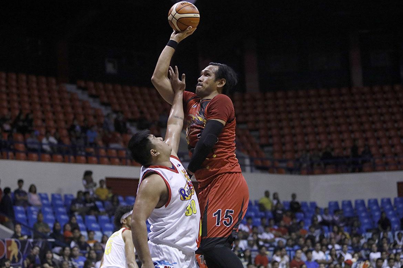 Tiebreaker Times June Mar Fajardo admits he's struggling so far Basketball News PBA  San Miguel Beermen PBA Season 44 June Mar Fajardo 2019 PBA Philippine Cup