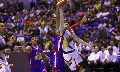 Tiebreaker Times History repeats itself as Cabagnot, San Miguel get back at Magnolia in Game 2 Basketball News PBA  San Miguel Beermen PBA Season 44 Mark Barroca Marcio Lassiter Magnolia Hotshots Leo Austria June Mar Fajardo Jio Jalalon Ian Sangalang Christian Standhardinger Chris Ross Chito Victolero Arwind Santos Alex Cabagnot 2019 PBA Philippine Cup