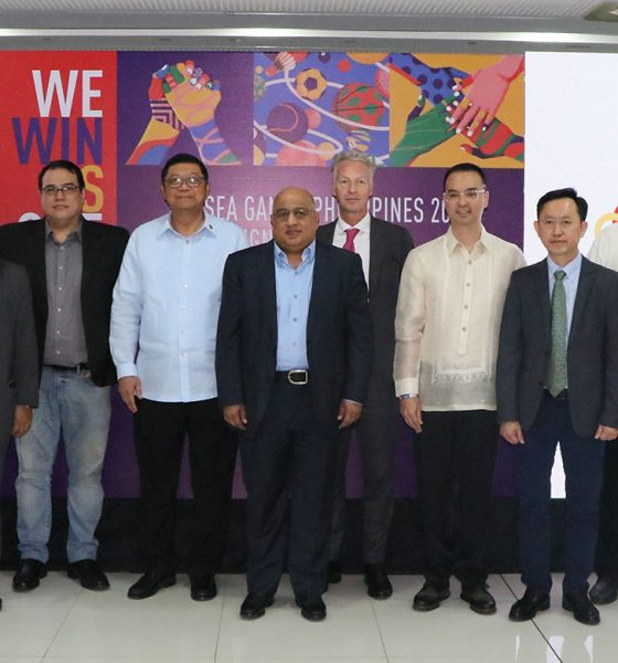 Tiebreaker Times PHISGOC presents first 2019 SEA Games sponsors 2019 SEA Games News POC/PSC  William Ramirez Ricky Vargas PHISGOC Peter Cayetano