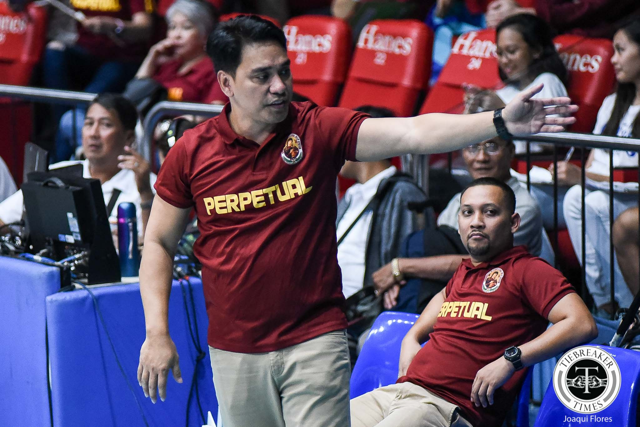 Tiebreaker Times Only fitting for Perpetual's season to end in do-or-die match, says Macky Cariño NCAA News UPHSD Volleyball  Perpetual Women's Volleyball NCAA Season 94 Women's Volleyball NCAA Season 94 Macky Cariño