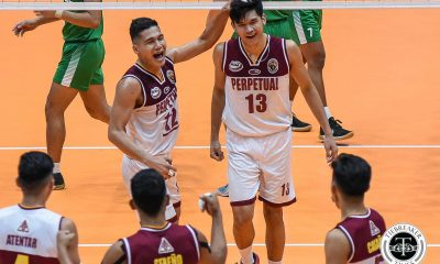 Tiebreaker Times Matching Perpetual's past great middle blockers pushes Ronniel Rosales NCAA News UPHSD Volleyball  Sammy Acaylar Ronniel Rosales Perpetual Men's Volleyball NCAA Season 94 Men's Volleyball NCAA Season 94