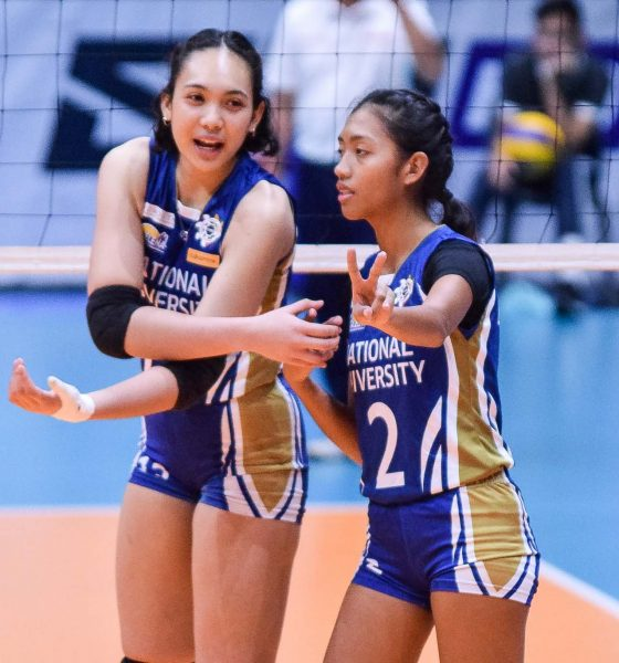 Tiebreaker Times Kly Orillaneda to do her best as NU's emergency setter News NU UAAP Volleyball  UAAP Season 81 Women's Volleyball UAAP Season 81 NU Women's Volleyball Kly Orillaneda