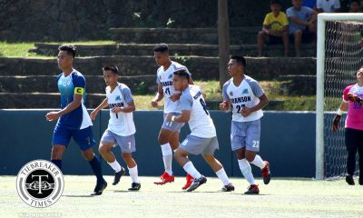 Tiebreaker Times Jackson Ramos penalty salvages Adamson draw against NU in season opener AdU Football News NU UAAP  UAAP Season 81 Men's Football UAAP Season 81 NU Men's Football Mike Arbela Mari Aberasturi Jackson Ramos Christian Betanio Carl Viray Arvin Soliman Adamson Men's Football