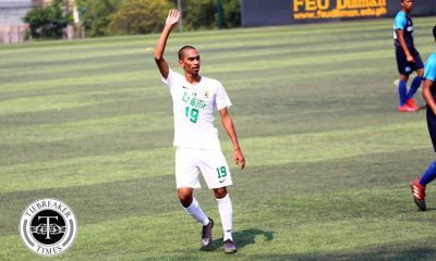 Tiebreaker Times Mohammad Almohjili's strike lifts La Salle past 10-man Adamson for maiden victory AdU DLSU Football News UAAP  UAAP Season 81 Men's Football UAAP Season 81 Mohamed Adil Almohjili Gab Villacin DLSU Men's Football Carl Viray Arvin Soliman Alvin Ocampo Adamson Men's Football