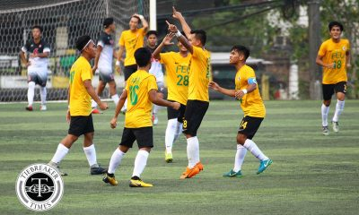 Tiebreaker Times Late Dominique Canonigo free kick lifts FEU Tamaraws over La Salle DLSU FEU Football News UAAP  UAAP Season 81 Men's Football UAAP Season 81 Park Bo Bae Kim Minsu Hans-Peter Smit Gab Villacin FEU Men's Football Dominique Canonigo DLSU Men's Football Dave Parac Alvin Ocampo Alfonso Montelibano