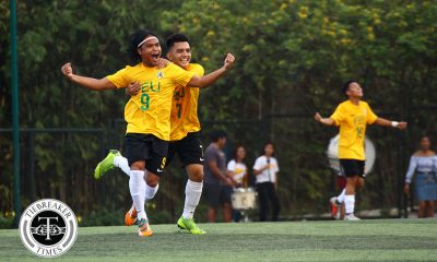 Tiebreaker Times FEU goes goal crazy, opens campaign in style with UE rout FEU Football News UAAP UE  Vince Santos UE Men's Football UAAP Season 81 Men's Football UAAP Season 81 Park Bobae Jermi Darapan Gio Pabualan Frank Rieza Fitch Arboleda FEU Men's Football Domique Canonigo Dave Parac Champ Marin Alex Rayos