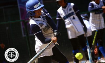 Tiebreaker Times Adamson Lady Falcons send statement with rout of UE AdU News Softball UAAP UE  UE Softball UAAP Season 81 Softball UAAP Season 81 Lyca Basa Lovely Redaja Krishna Cantor Jenette Rusia Edcel Bacarisas Arianne Vallestero Ana Santiago Adamson Softball