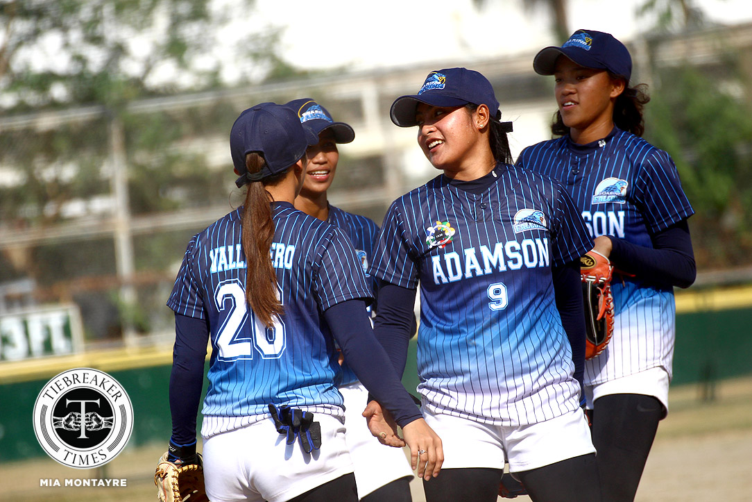 Tiebreaker Times Lyca Basa steers Adamson Lady Falcons to another shutout win, locks down UST AdU News Softball UAAP UST  UST Tiger Softbelles UAAP Season 81 Softball UAAP Season 81 Sandy Barredo Krisha Cantor Celyn Ojare Arianne Vallestero Ana Santiago Adamson Softball