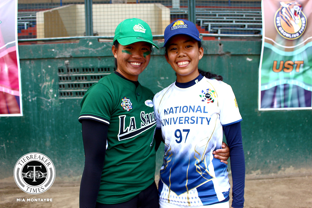 Tiebreaker Times Arribas sisters relish first game on opposing sides DLSU News NU Softball UAAP  UAAP Season 81 Softball UAAP Season 81 NU Softball Jamica Arribas DLSU Softball Cristy Arribas