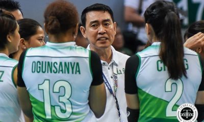 Tiebreaker Times Early rivalry match gives Ramil de Jesus, Lady Spikers acid test DLSU News UAAP Volleyball  UAAP Season 81 Women's Volleyball UAAP Season 81 Ramil De Jesus DLSU Women's Volleyball