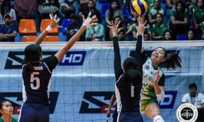 Tiebreaker Times DLSU Lady Spikers sizzle, torch Adamson AdU DLSU News UAAP Volleyball  UAAP Season 81 Women's Volleyball UAAP Season 81 Ramil De Jesus Michelle Cobb Joy Dacoron Jolina Dela Cruz DLSU Women's Volleyball Des Cheng Carmel Saga Bernadette Flora Air Padda Adamson Women's Volleyball