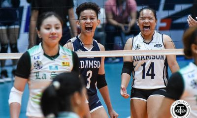 Tiebreaker Times Bernadette Flora on banter with Des Cheng:  'Doon ko nakukuha yung confidence ko' AdU News UAAP Volleyball  UAAP Season 81 Women's Volleyball UAAP Season 81 Bernadette Flora Air Padda Adamson Women's Volleyball