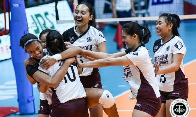 Tiebreaker Times UP Lady Maroons topple FEU for first time in five years FEU News UAAP UP Volleyball  UP Women's Volleyball UAAP Season 81 Women's Volleyball UAAP Season 81 Tots Carlos Rem Altomea Lycha Ebon Justine Dorog Isa Molde FEU Women's Volleyball Celine Domingo Ayel Estranero