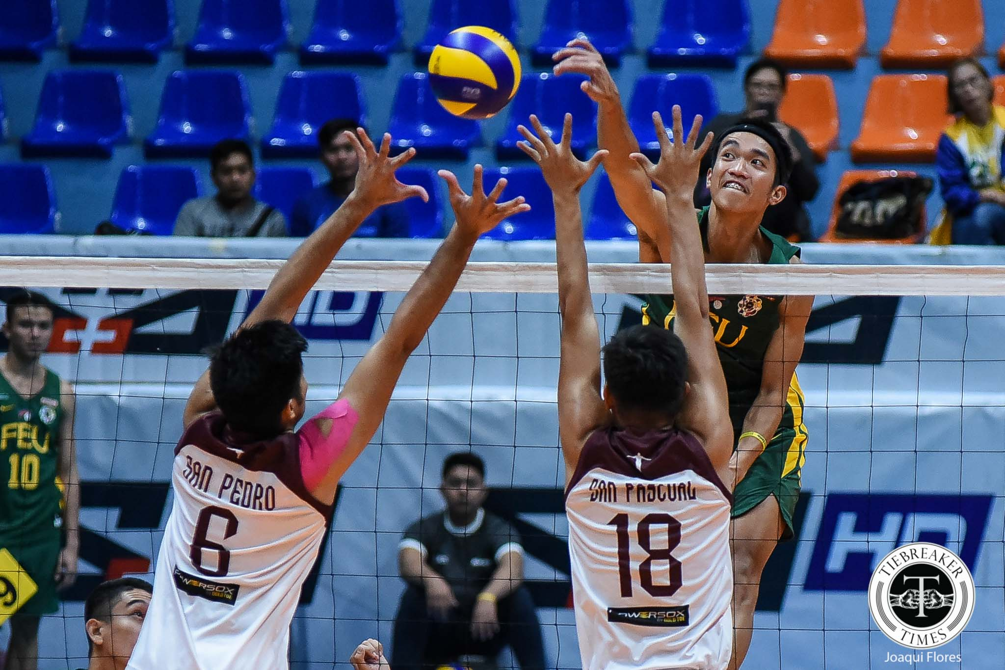 Tiebreaker Times FEU Tamaraws stump UP for second win FEU News UAAP UP Volleyball  UP Men's Volleyball UAAP Season 81 Men's Volleyball UAAP Season 81 Richard Solis Rey Diaz Owen Suarez Mark Millete JP Bugaoan Jerry San Pedro Jeremiah Barrica Hans Chuacuco FEU Men's Volleyball