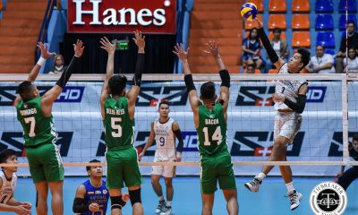Tiebreaker Times Bryan Bagunas stays hot, powers NU Bulldogs past La Salle DLSU News NU UAAP Volleyball  UAAP Season 81 Men's Volleyball UAAP Season 81 Ricky Marcos NU Men's Volleyball Madz Gampong Joshua Retamar Geriant Bacon DLSU Men's Volleyball Dante Alinsunurin Cris Dumago Bryan Bagunas Arnold Laniog