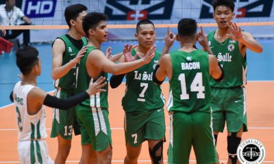 Tiebreaker Times Cris Dumago gets fitting send off as La Salle survives 5-set thriller vs UP DLSU News UAAP UP Volleyball  Wayne Marco UP Men's Volleyball UAAP Season 81 Men's Volleyball UAAP Season 81 Rald Ricafort Rafael Macaspac Mark Millete Gian San Pascual DLSU Men's Volleyball Cris Dumago Billie Anima Arnold Laniog