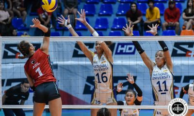 Tiebreaker Times NU's new tower Ivy Lacsina taking cues from former MVP Jaja Santiago News NU UAAP Volleyball  UAAP Season 81 Women's Volleyball UAAP Season 81 NU Women's Volleyball Ivy Lacsina