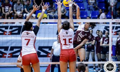 Tiebreaker Times UP Lady Maroons earn first win, outlast UE News UAAP UE UP Volleyball  UP Women's Volleyball UE Women's Volleyball UAAP Season 81 Women's Volleyball UAAP Season 81 Tots Carlos Rey Karl Dimaculangan Rem Altomea Kath Arado Judith Abil Isa Molde Godfrey Okumu Ayel Estranero
