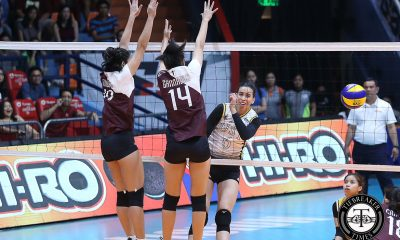 Tiebreaker Times Milena Alessandrini, UST Golden Tigresses hand UP first loss News UAAP UP UST Volleyball  UST Women's Volleyball UP Women's Volleyball UAAP Season 81 Women's Volleyball UAAP Season 81 Tots Carlos Milena Alessandrini MaFe Galanza Kungfu Reyes Janel Delerio Isa Molde Eya Laure
