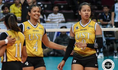 Tiebreaker Times UST Golden Tigresses stop Adamson comeback for debut win AdU News UAAP UST Volleyball  UST Women's Volleyball UAAP Season 81 Women's Volleyball UAAP Season 81 Sisi Rondina Kungfu Reyes Janel Delerio Eya Laure Eli Soyud Bernadette Flora Alina Bicar Air Padda Adamson Women's Volleyball