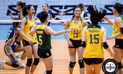 Tiebreaker Times FEU Lady Tamaraws overcome slow start, dash new-look NU FEU News NU UAAP Volleyball  UAAP Season 81 Women's Volleyball UAAP Season 81 Princess Robles NU Women's Volleyball Norman Miguel Lycha Ebon Kyle Negrito Ivy Lacsina George Pascua FEU Women's Volleyball Celine Domingo Buding Duremdes