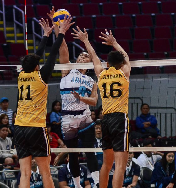 Tiebreaker Times Pao Pablico, Adamson Falcons gut out opening day win over UST AdU News UAAP UST Volleyball  UST Men's Volleyball UAAP Season 81 Men's Volleyball UAAP Season 81 Pao Pablico Odjie Mamon MAnuel Medina Leo Miranda Joshua Umandal Jesus Valdez Domingo Custodio Carlo Jimenez Adamson Men's Volleyball